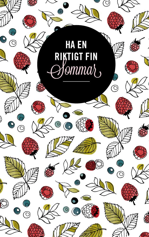 sommar, anna nilsson, grafisk design, illustration