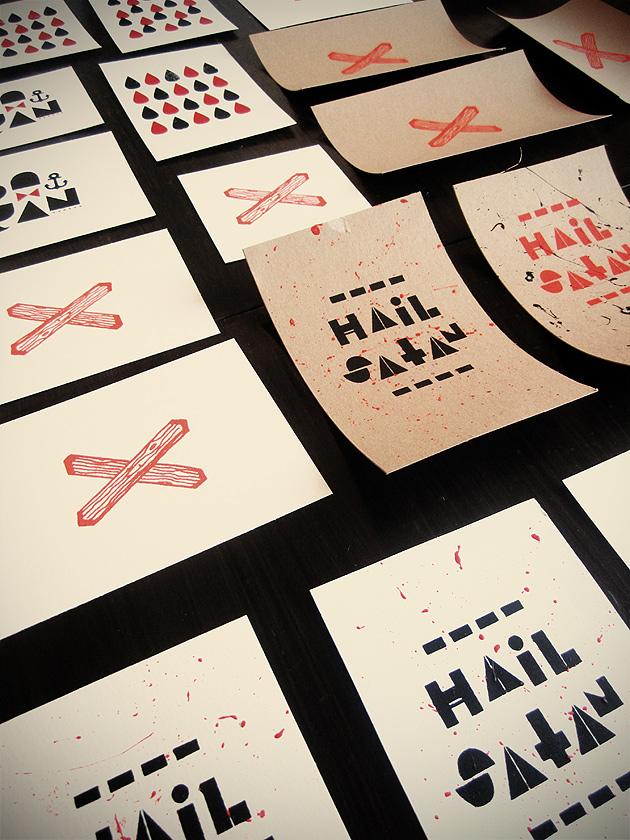 vykort, screentryck, anna nilsson, annagrafiskform, grafisk design