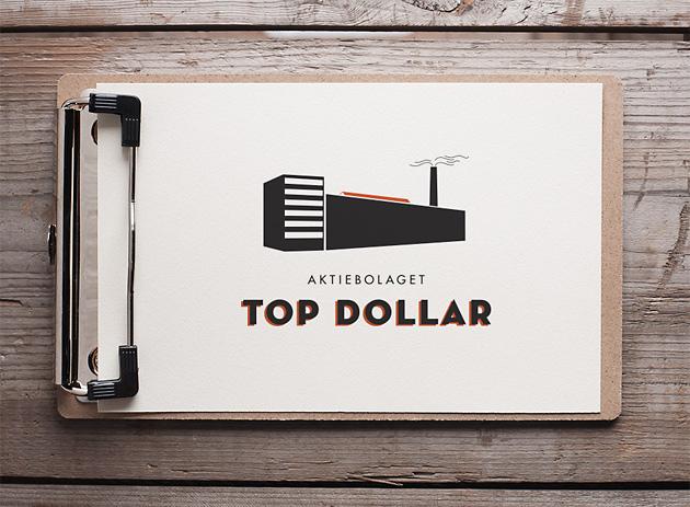 Top Dollar, anna Nilsson, annagrafiskform.se, logotyp, profil, reklambyrå,