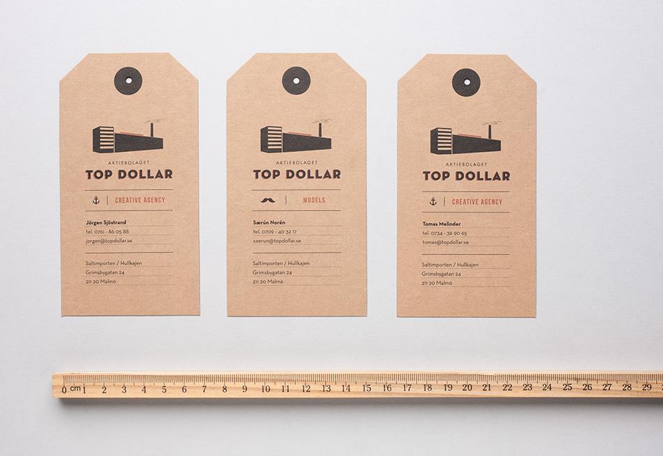 top dollar, logotyp, formgivare, anna nilsson, annagrafiskform.se, illustratör, grafisk design, reklambyrå, varumärke