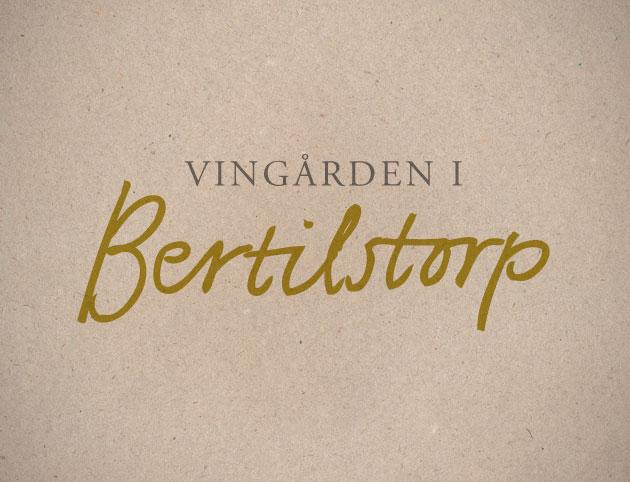 vingården i bertilstorp, anna nilsson, annagrafiskform.se malmö, grafisk design, logotyp