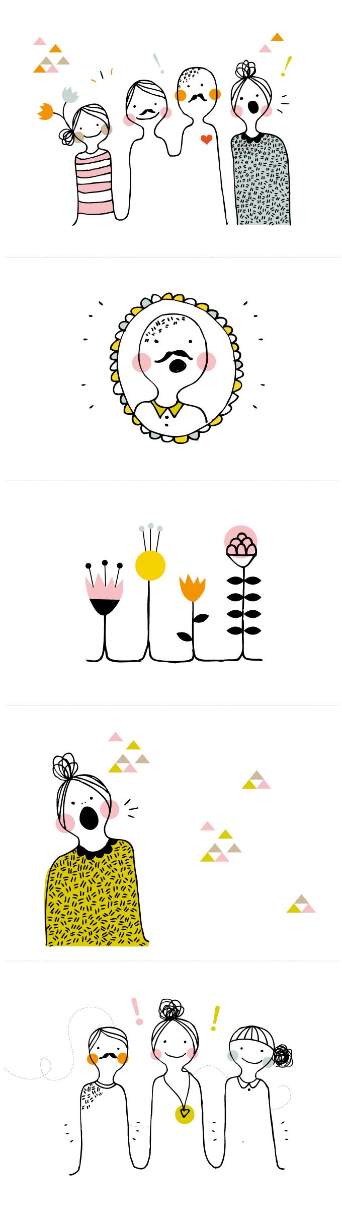 karaktär, schlager, illustration, anna nilsson, malmö, blomma