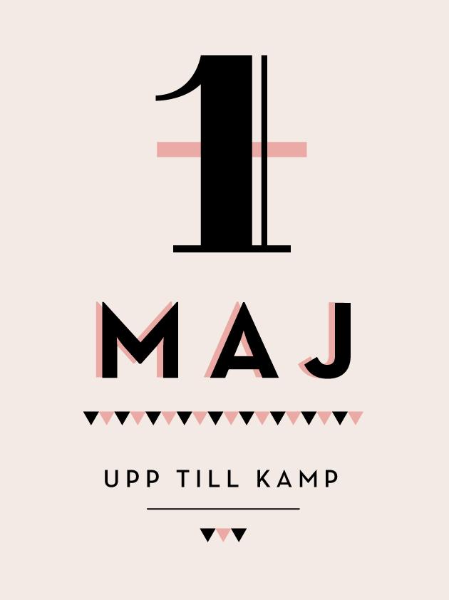 första maj, demonstration, grafisk design, typografi, illustration, anna nilsson, malmö