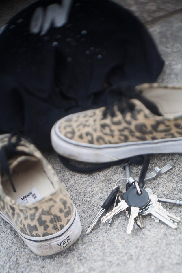 vans, sko, nycklar