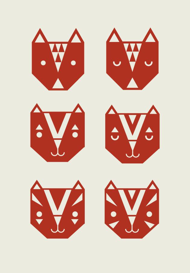 illustration, vektorgrafik, djur, triangel, malmö, anna nilsson, annagrafiskform