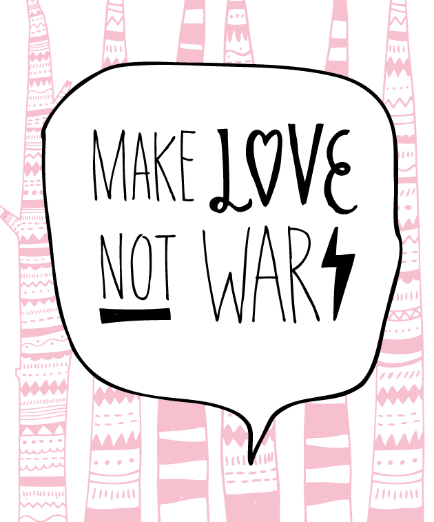 illustration, anna nilsson, make love not war, malmö,