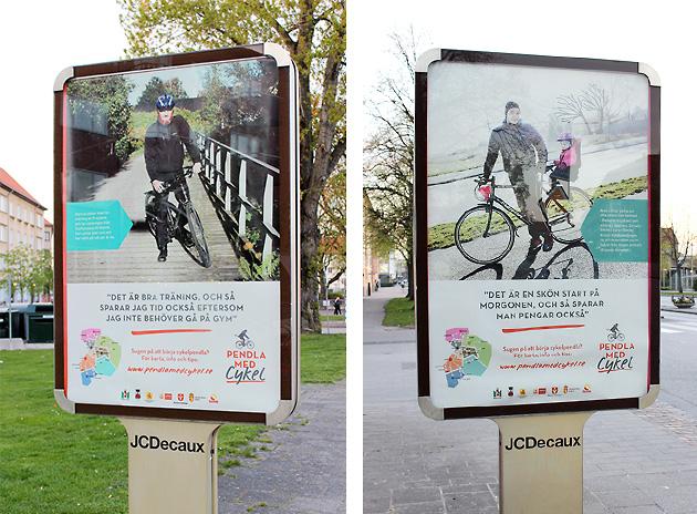 koncept, grafisk design, malmö stad, pendla med cykel, affisch, illustation