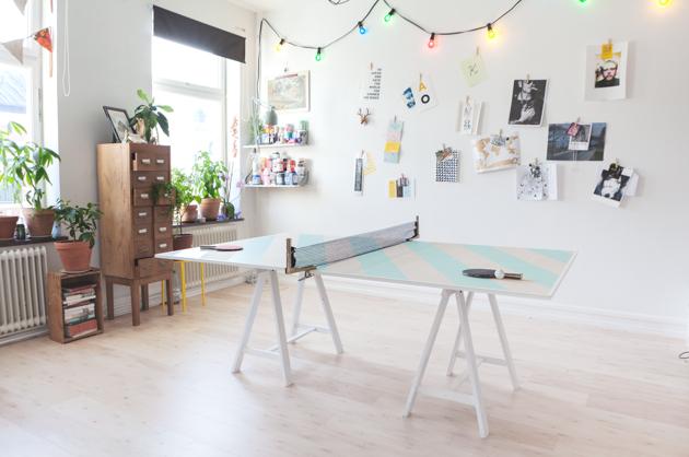 pingis, design, randigt, DIY, anna nilsson, ensamheten