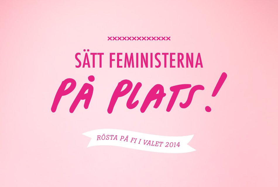 feministiskt initiativ, bonvoyage, kampanj, valet 2014, webb, grafisk design, affisch, folder, typografi, aktivism