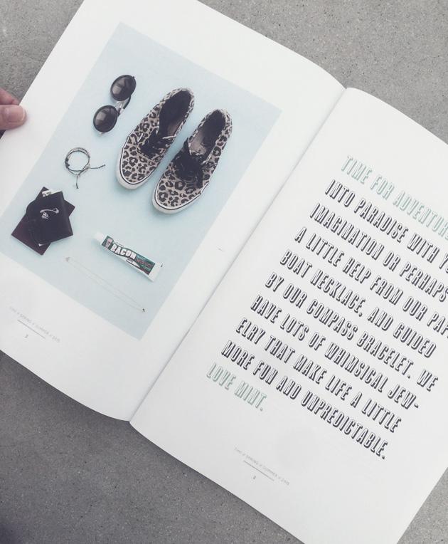 grafiskt katalogkoncept för mint sweden