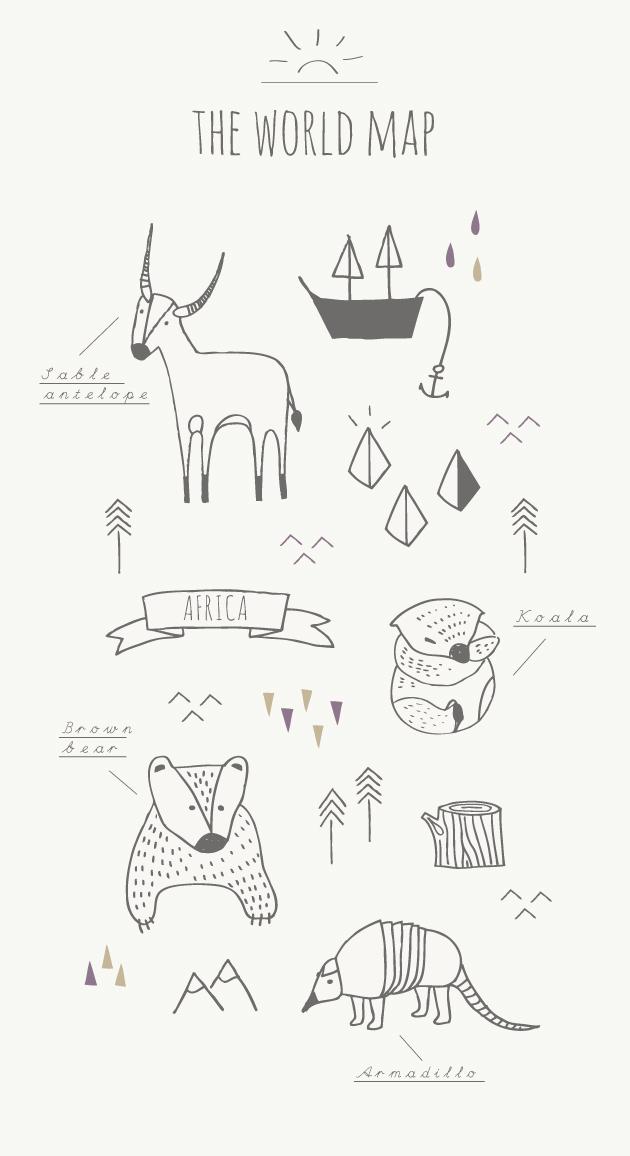 illustrationer till världskarta
