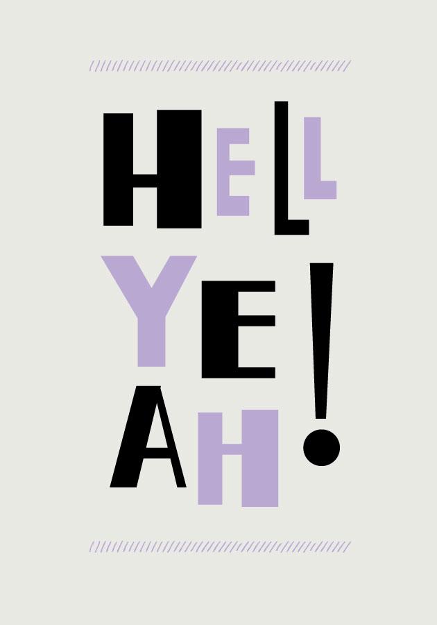 Typografi: Hell Yeah