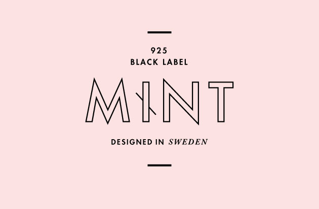 logo an graphic print for Mint Sterling Silver, Black Label