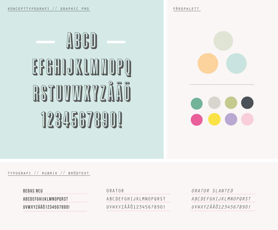 grafisk palett till Mint