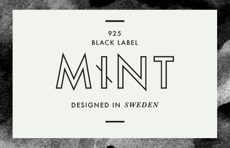 visuell identitet till Mint 925 Black Label