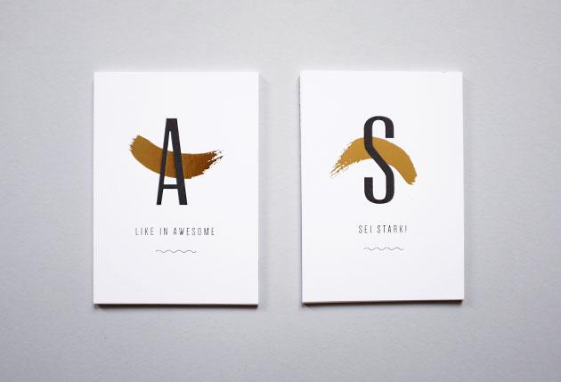 vykort med grafiska prints