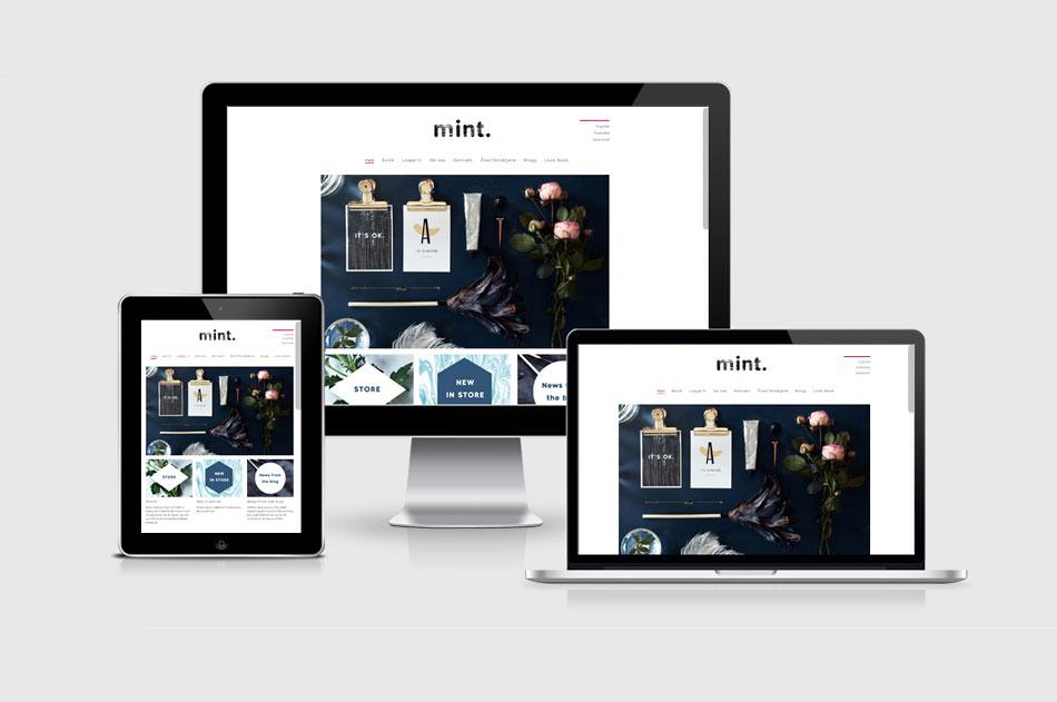 Bild på mints webbplats