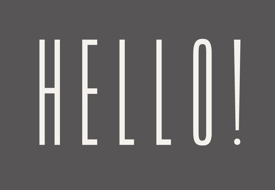 grå typografi